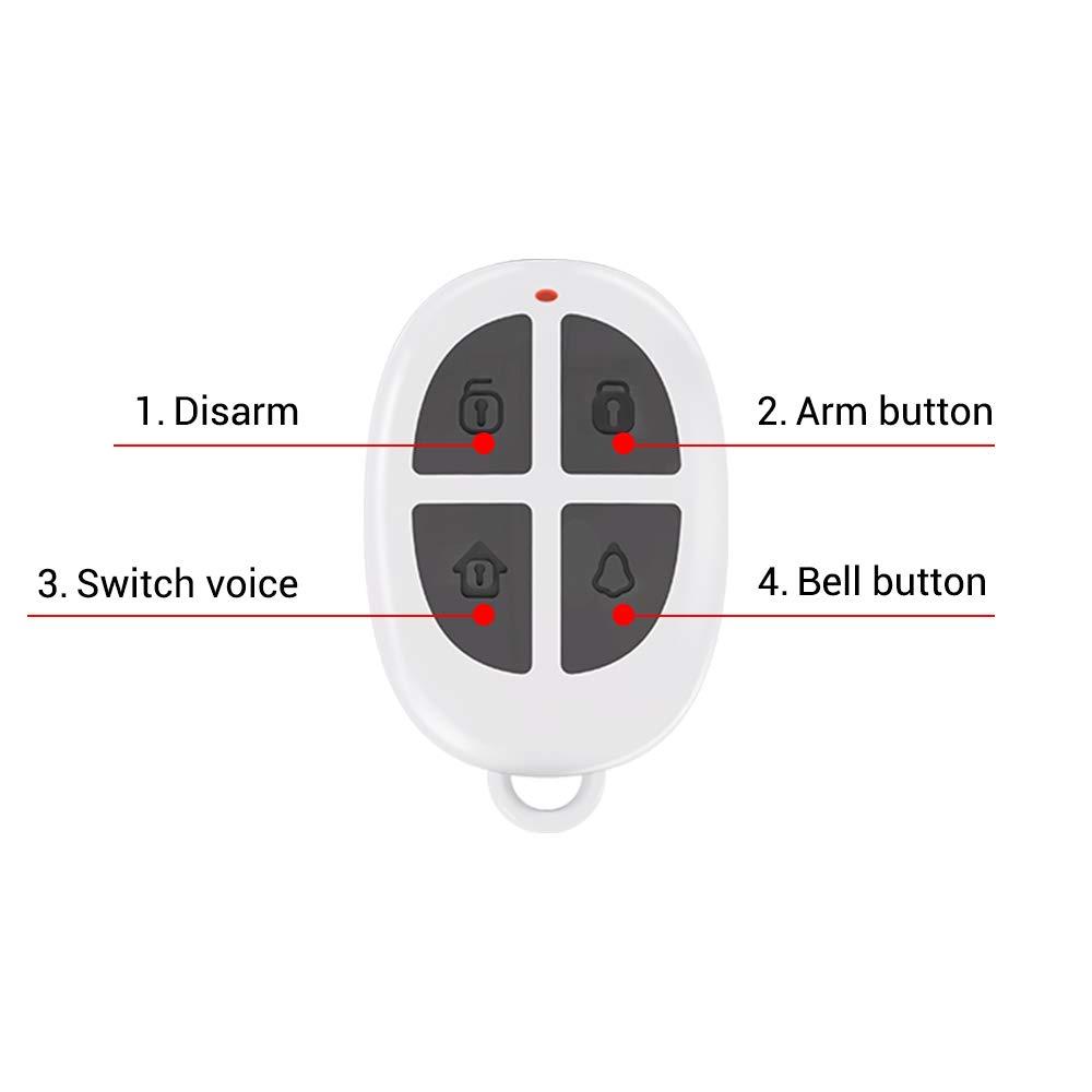 Remote Control CPVAN Sistema de alarma con sensor de movimiento