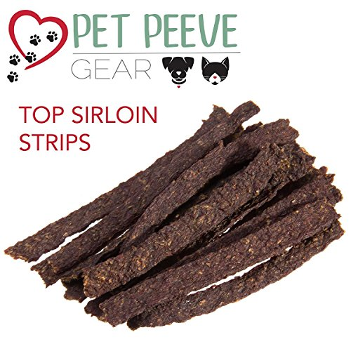 Best Dog Treats, All NATURAL Dog Jerky Treats Made in USA ONLY, 2 Premium Flavors in 1 bag, Chicken & Beef Strips, Healthy Teeth, Grain & Gluten Free, Great Diabetic Treat, Training, Dental Chews by Pet Peeve Gear (Image #5)