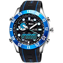 Wrath Blockbuster Blue Analog & Digital Luxury Watch for Men