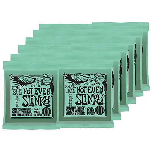 12 Sets of Ernie Ball 2626 Nickel Not Even Slinky Drop Tuning Electric Guitar Strings