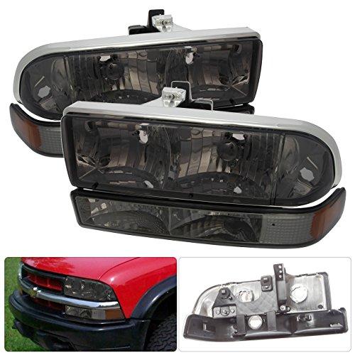 Chevy S10 Blazer Pickup Smoke Headlight Amber Corner Signal Bumper Lamp Reflector Replacement Asembly Front Driving (Corner S10 Pickup)