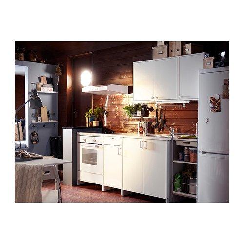 IKEA FYNDIG -Unterschrank für Backofen weiß/ grau 63x60x86 cm ...