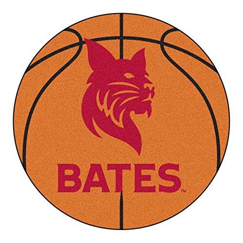 NCAA Bates College Bobcats Basketball Shaped Mat Area Rug