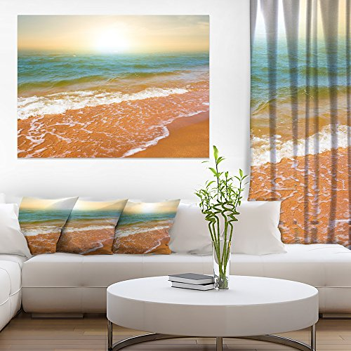 Design Art Clear Waters in Early Morning Beach Large Seashore Canvas Print
