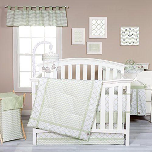 (Trend Lab Sea Foam 3 Piece Crib Bedding Set, Sage)