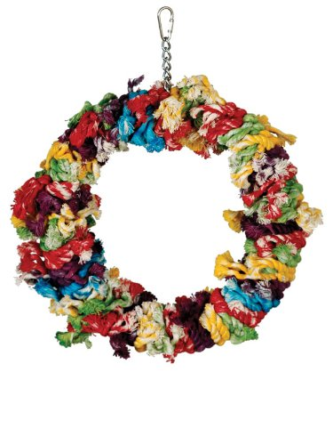 Paradise Toys Large Cotton Preening Ring, 12-Inch W by 14-Inch L