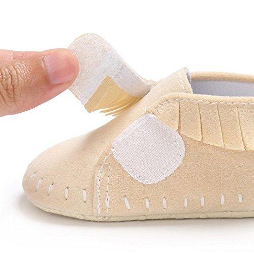 BZLine® Baby Schuhe junge Mädchen newborn Krippe Soft Sole Krippeschuhe Sneakers Beige