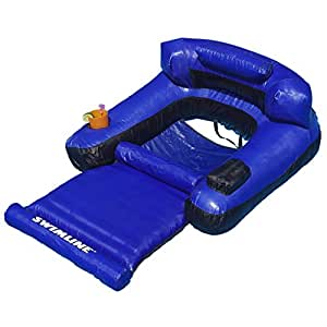 Swimline floating lounge chair toys games for Does lowes sell swimming pool supplies