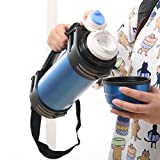 Funwill Portable 68 Oz Outdoor Stainless Steel Vacuum Cup Thermos Water Bottle (Shipping from USA)