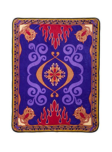 TV Movie Fashion Pop Culture Soft Cozy Fleece Throw Blanket Bedding (Disney Aladdin Magic Carpet) Disneys Aladdin Magic Carpet