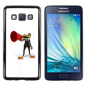Paccase / SLIM PC / Aliminium Casa Carcasa Funda Case Cover para - Frog Orator White Minimalist - Samsung Galaxy A3 SM-A300