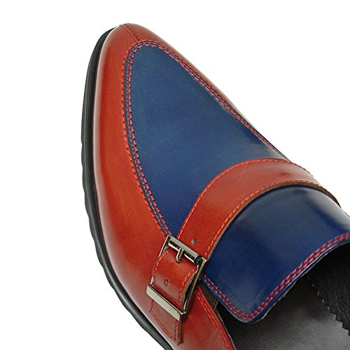 Straps Insole ONS Encore Red with Leather Trendy Slip Monk Cushioned Men's Shoes Fiesso Blue zCtwZqq