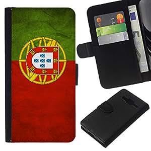 All Phone Most Case / Oferta Especial Cáscara Funda de cuero Monedero Cubierta de proteccion Caso / Wallet Case for Samsung Galaxy Core Prime // National Flag Nation Country Portugal