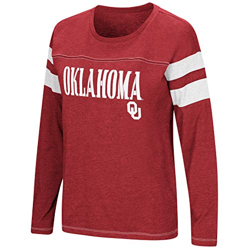 Colosseum Women's NCAA-Game of My Life-Dolman Long Sleeve Tee-Oklahoma Sooners-Crimson-Small