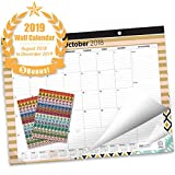 Oriday 2018-2019 Monthly Yearly Desk Calendar, Wall Calendar + 2 Sets of Stickers - to-Do List Notepad (16 Months - September 2018 to December 2019, 22'' x 17'', Academic)