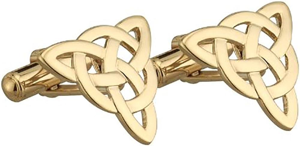 Tara Celtic Cufflinks Gold Plated Trinity Knot Made in Ireland