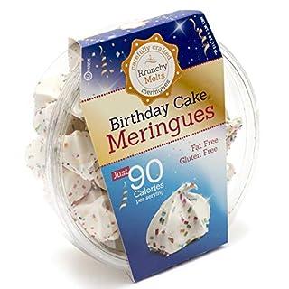 Original Meringue Cookies (Birthday Cake) • 90 calories per serving, Gluten Free, Fat Free, Nut Free, Low Calorie Snack, Kosher, Parve • by Krunchy Melts