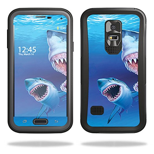 Skin Compatible with OtterBox Preserver Samsung Galaxy S5 Case - Great Whites | MightySkins Protective, Durable, and Unique Vinyl wrap Cover | Easy to Apply, Remove | Made in The USA (Galaxy S5 Case Jaws)