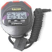 CSU Plastic Digital Stop Watch (Black, 8X5X2cm)