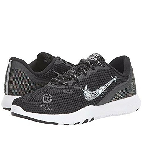 NIKE Bling, Nike Flex Trainer 7 Metallic, BLACK, Custom Nike, Bling Nike, Bedazzled by Sparkle Boutique