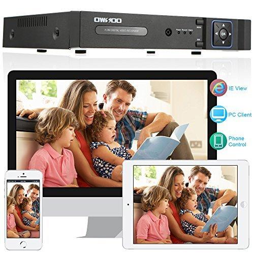OWSOO 8CH Full 1080N(9601080) AHD DVR HVR NVR H.264 HDMI P2P Cloud Network DVR Digital Video Recorder with 3.5'' Inch 1TB HDD