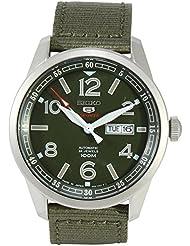 Seiko 5 Sports SRP621 J1 Green Mens Automatic Nylon Strap Analog Watch