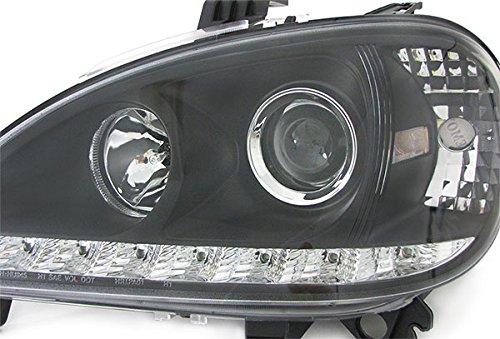 color negro Faros delanteros con luz diurna Carparts-Online 22310 cristal transparente