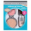 Physicians Formula Mineral Wear Flawless Complexion Kit, Medium Pressed Powder 0.3 oz., Matte Finishing Veil 0.58 Ounce and Pressed Blush: 0.19 oz.