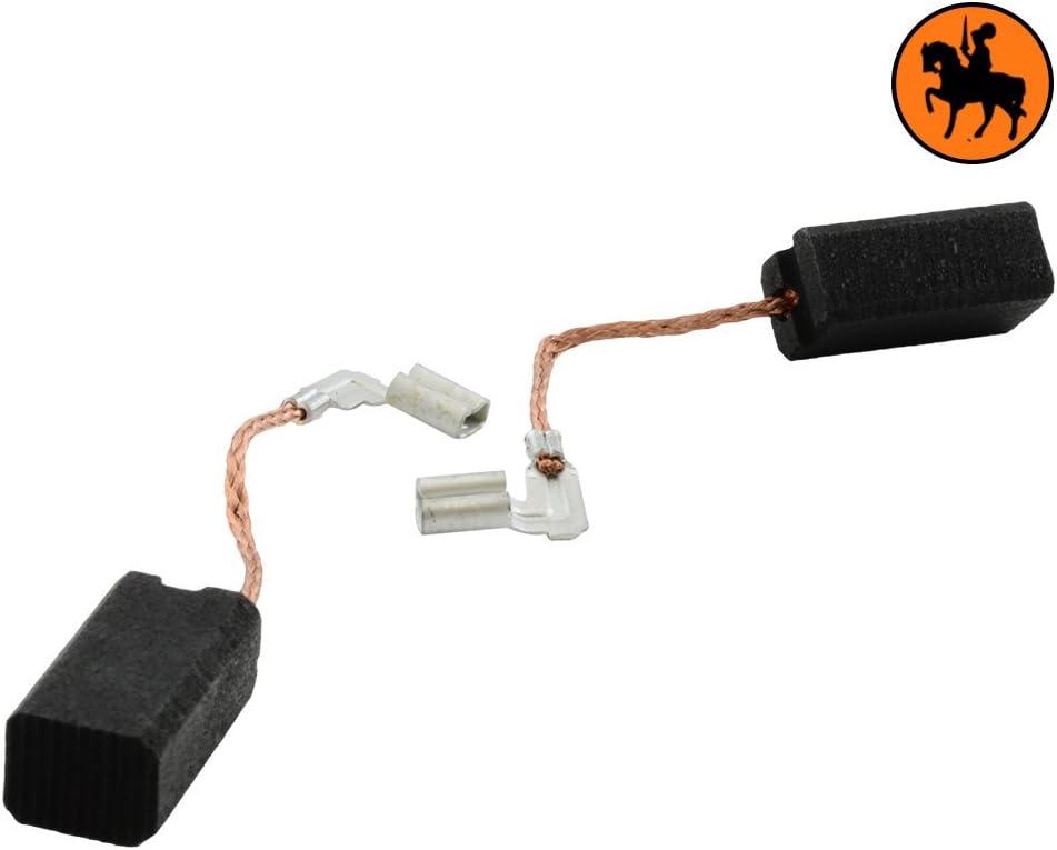 Balais de Charbon METABO EW E 11150 S-SIGNAL QUICK Mini Meuleuse Angulaire 6,3x8x15 mm Une paire de brosses de charbon de haute qualit/é
