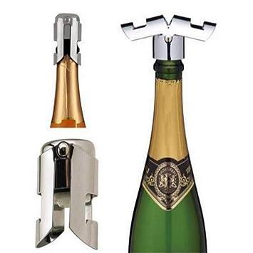 2X Edelstahl Weinflasche Stopper Plug Sparkling Champagner Sealer-Küche