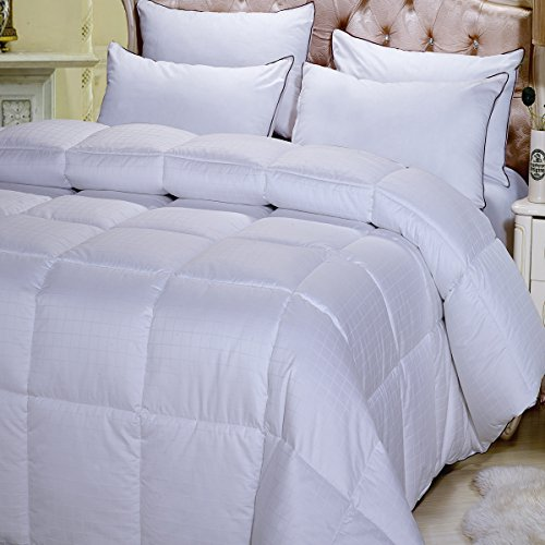 Royal Hotel Down Comforter Alternative Duvet Insert 100% Cotton Ultra Plush Baffle Box No Feathers Hypoallergenic Medium Weight All Season Year Round Reversible Washable Twin/Twin XL Size (68″x90″)
