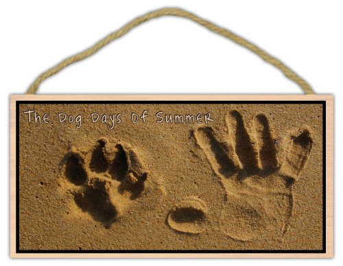 Wooden Decorative Pet Sign: The Dog Days of Summer (Sand Design) | Dogs, Gifts ()