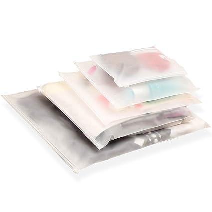 20PCS ziplock Scrub Bolsas Bolsa de almacenamiento de embalaje impermeable de PVC Para Ropa / Regalos / Cosméticos / Ropa De Cama / Almacenamiento / ...