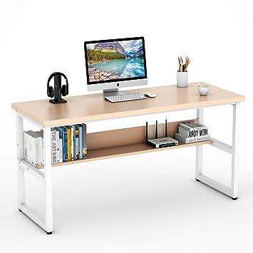 Amazoncom Tribesigns Computer Desk With Bookshelf 55 Simple