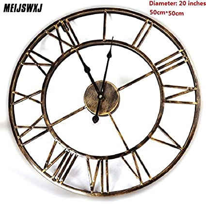Kamas 20inches 3D Large Wall Clock Saat Iron Wall Clock Reloj Watch Digital Clocks Duvar Saati