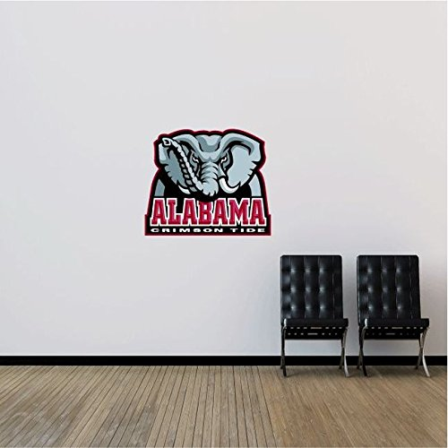 Alabama Crimson Tide NCAA USA Logo Combo College Sport Art Wall Decor Sticker 25'' x 21''