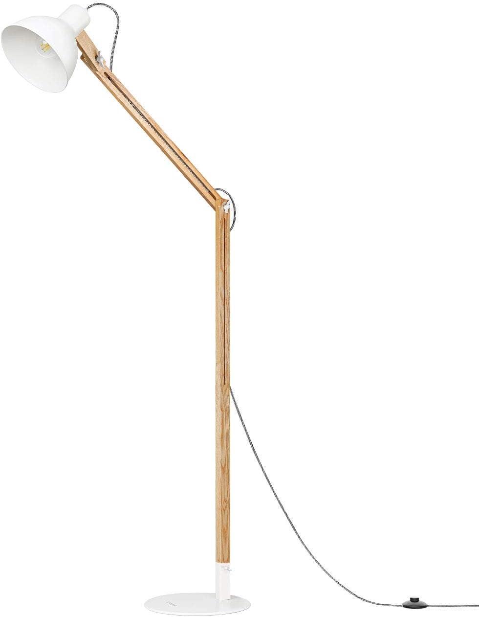 Tomons Stehlampe Holz Led Stehleuchte Moderne Skandinavischer