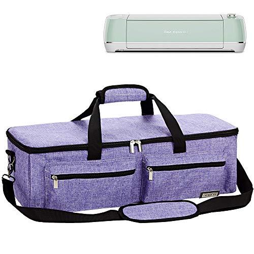 HOMEST Craft Machine Carrying Case Tote Bag Cricut Accessories, Storage for Cricut Explore Air 2, Cricut Maker, Silhouette Cameo3, Purple