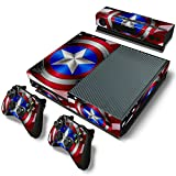 GoldenDeal Xbox One Console and 2 Controllers Skin Set – SuperHero – XboxOne Vinyl For Sale