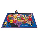 Geography Discover America Kids Rug Rug Size: 4'5'' x 5'10''