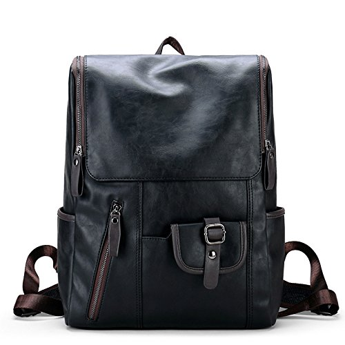 Meoaeo Leder Bag Boy Student Tasche College Wind Travel Bag Pu Leder Koreanischen Mann