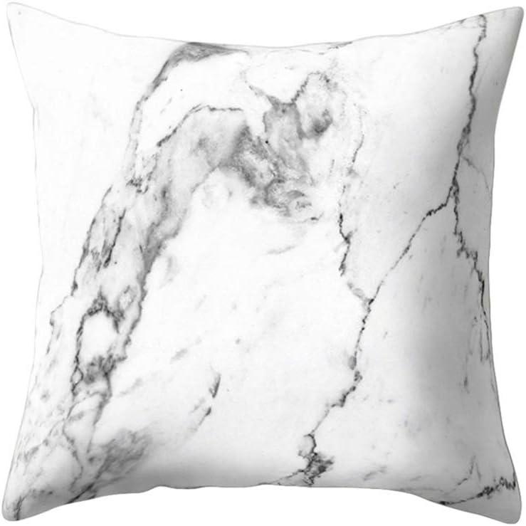 Housse de coussin douce et confortable au motif de marbre Amesii