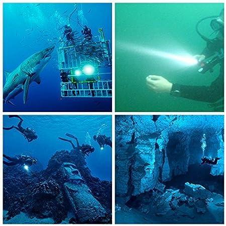 BlueFire 1200LM plong/ée Lampe de Poche Xml-l2/Scuba Lampe Torche LED Professionnelle 100/m de Profondeur de Poche /étanche sous-Marin lumi/ère