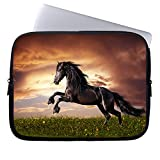 Neafts Black Horse Waterproof Neoprene Laptop Sleeve Carrying Case Cover Protective Bag for 15-15.6 Inch MacBook Pro, Ultrabook Netbook Tablet