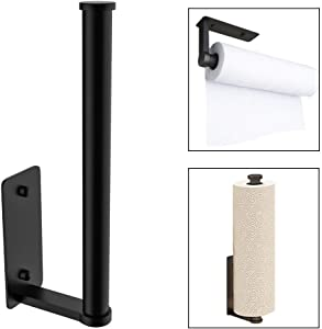 DUU Paper Towel Rolls Holder Under Cabinet Wall Mount Kitchen Towels Organizer 10.5 Inch Install Vertically or Horizontally