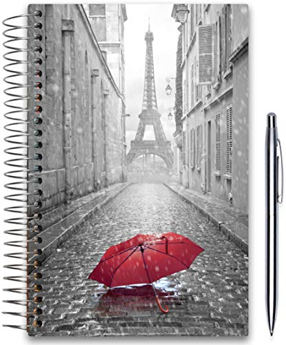 April 2019-2020 Planner 5x8 - Hardcover - Daily Weekly Monthly - Academic Planner Year - Tools4Wisdom Paris Cover