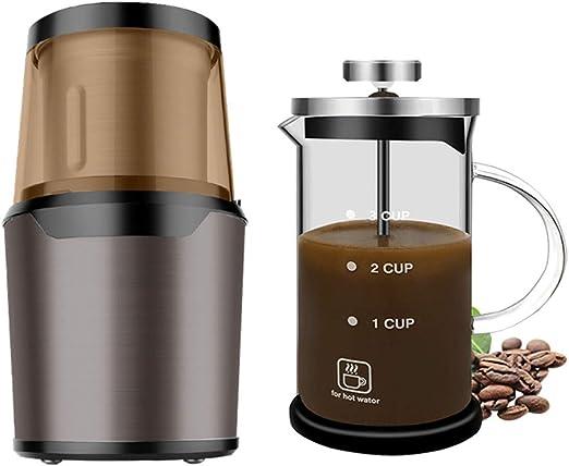 Cafetera DOOST portátil con operación de un Solo botón, Molino de ...