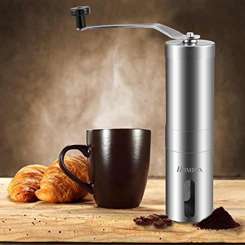 Coffee Grinder With Adjustable Ceramic Conical Burr Grinding, Never Rust, Long Time Usage Suit For Home Usage. Portable, Also Travelers.