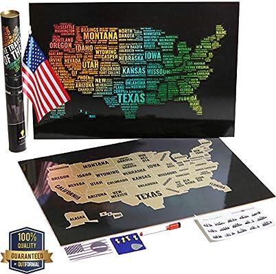 Póster con mapa de los Estados Unidos, diseño de rayones y mapamundi – Elegante mapa de los Estados Unidos, mapa de los Estados Unidos, mapa de oro, mapa de los Estados Unidos –