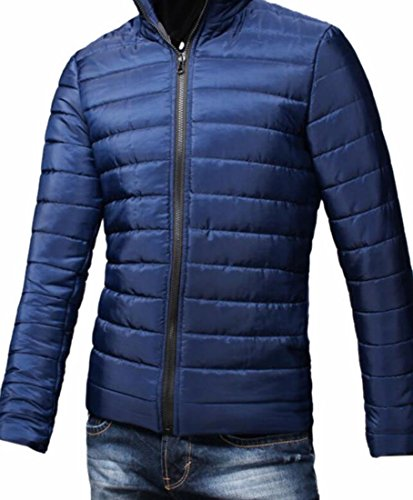 Hot Puffer Brd Jacket Zipper UK Down Down Coat Dark Winter Lightweight Blue Men Waterproof rxFrWHwnSq
